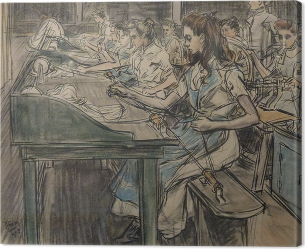 Jan Toorop - Candle Factory in Gouda, 3 Canvas Print - Reproductions