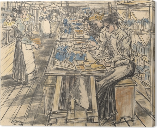 Jan Toorop - Candle Factory in Gouda, 5 Canvas Print - Reproductions