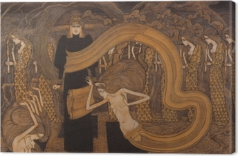 Jan Toorop - Fatalism Canvas Print
