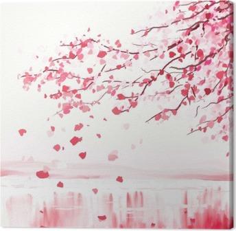 Japanese cherry tree Canvas Print