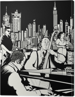 Jazz band playing in New York Canvas Print