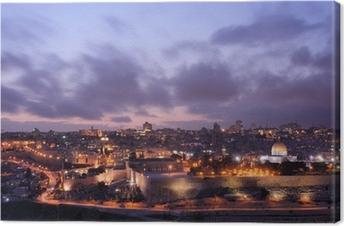 Jerusalem Skyline Canvas Print