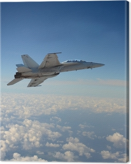 Jetfighter in flight Canvas Print