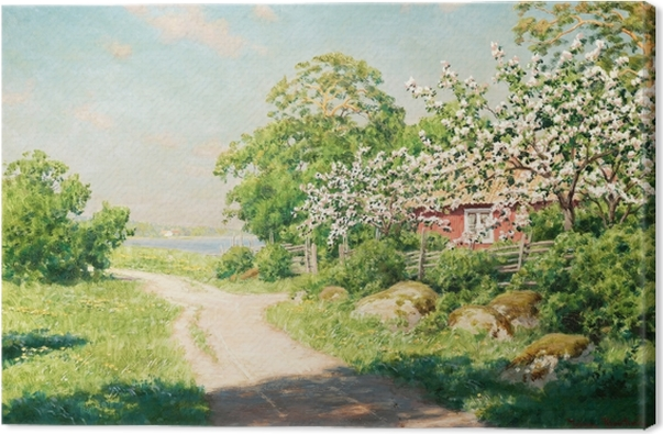 Johan Krouthén - Country Road Canvas Print - Reproductions