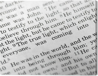 John 1:9, a popular Bible verse from the New Testament Canvas Print