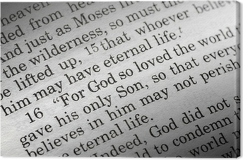 John 3:16 in the Christian Bible, For God so loved the world... Canvas Print