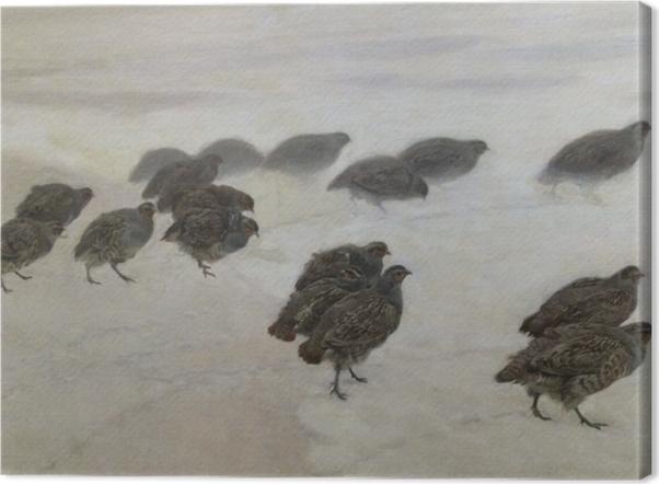 Józef Chełmoński - Partridges Canvas Print - Reproductions