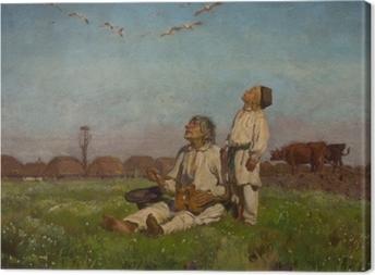 Józef Chełmoński - Storks Canvas Print