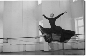 jump training ballerina Canvas Print
