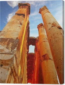 Jupiter's temple over blue sky, Baalbek, Lebanon Canvas Print