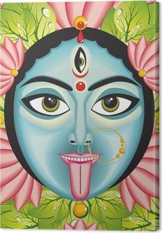 Kali - Indian Goddess face. Canvas Print