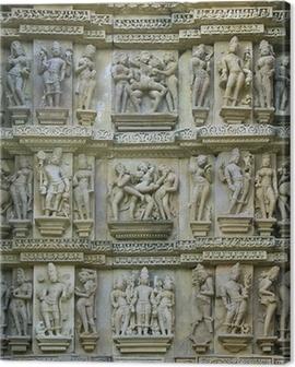 Kamasutra, Khajuraho temples, Madhya Pradesh, India Canvas Print