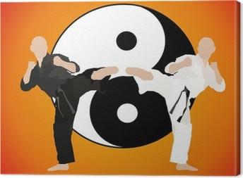 karate - fight duel (jing jang) Canvas Print