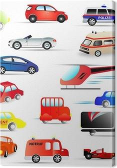 kraftfahrzeuge - set Canvas Print