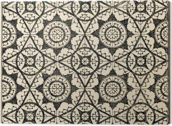 Lace tiles background 2 Canvas Print