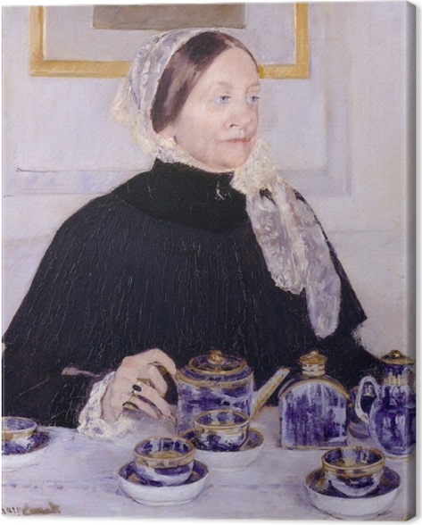 Lady at the Tea Table Canvas Print - Impressionism