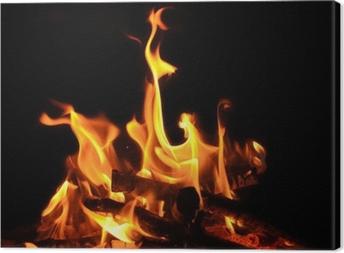 Lagerfeuer, offenes Feuer, Flammen, Glut Canvas Print