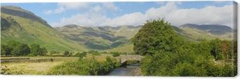 Lake District panorama Mickleden Beck river Langdale Valley Canvas Print