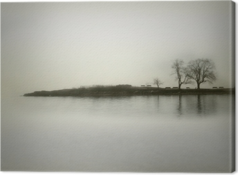 Landscape in sepia tones Canvas Print