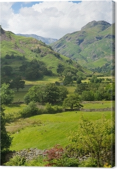 Langdale Valley Lake District Cumbria England UK in summer Canvas Print