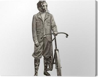 Lapin à vélo Canvas Print