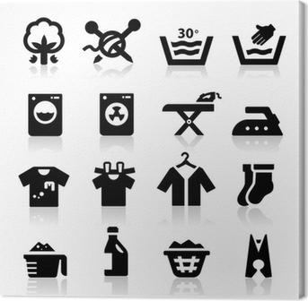 Laundry Icon Canvas Print