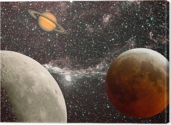 leçon d'astronomie, les planètes Canvas Print