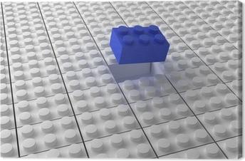 Lego background bw Canvas Print