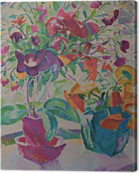 Leo Gestel - Bouquet in Window Canvas Print - Reproductions