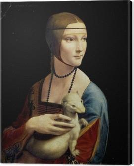 Leonardo da Vinci - Lady with an Ermine Canvas Print