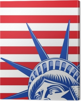 Liberty Statue Face Canvas Print