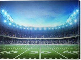 light of american stadium Canvas Print