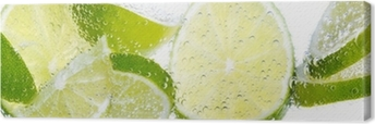 Limette & Zitrone Canvas Print