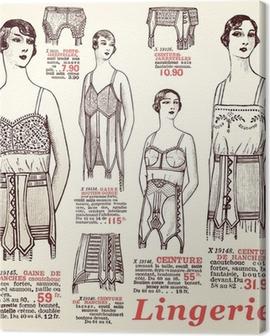 lingerie 1930 Canvas Print