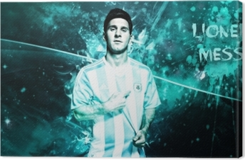 Lionel Messi Canvas Print