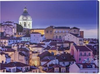 Lisbon, Portugal Skyline at Alfama Canvas Print