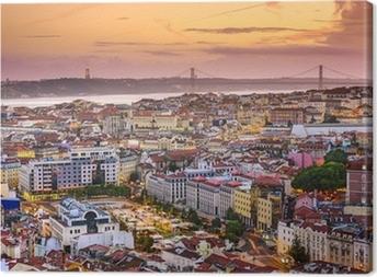 Lisbon, Portugal Skyline at Dusk Canvas Print