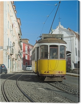 Lisbonne : Tram Jaune - Ligne 28 Canvas Print