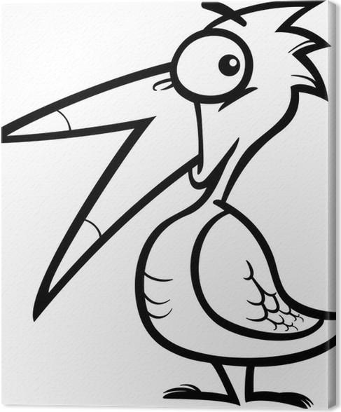 Little Bird Cartoon For Coloring Book Canvas Print