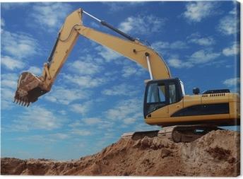 Loader excavator with raised boom Canvas Print