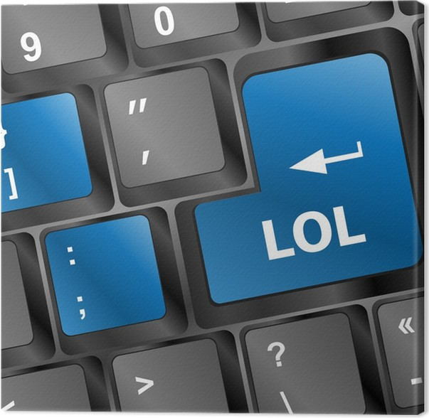 lol button on computer keyboard pc key Canvas Print • Pixers® • We ...