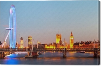 London Eye Panorama Canvas Print