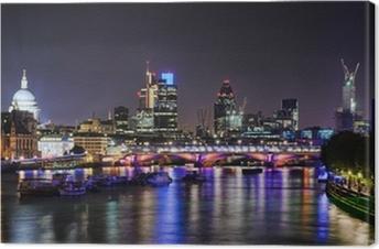 London skyline by night Canvas Print