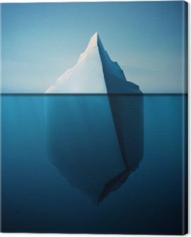 Lonely Iceberg Canvas Print