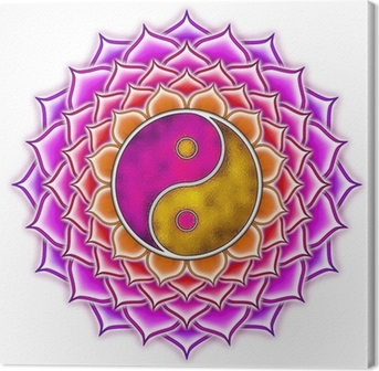 Lotus Yin Yang Canvas Print