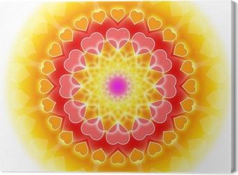 Love Mandala 01 - Flowering of the Heart Canvas Print