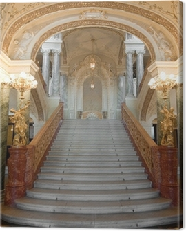luxury stairway Canvas Print