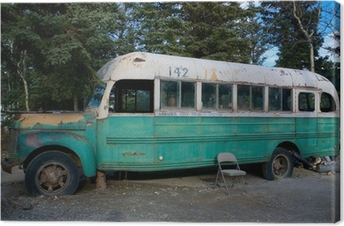 Magic Bus 142 from the movie Into The Wild Canvas Print