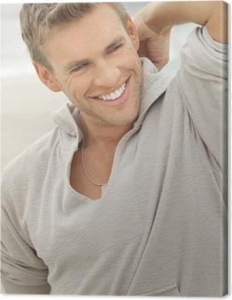 Male model smile Canvas Print