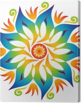 Mandala Energie Couleurs Arc en Ciel Canvas Print
